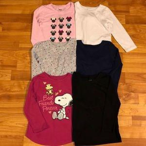 Girls 4T Long Sleeve Shirt Bundle